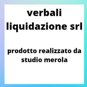 LIQUIDAZIONE SRL - VERBALI NECESSARI SENZA INTERVENTO NOTAIO.